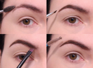 Step to draw eyebrows with brow powder