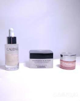 Routine visage : Tonic / Eau micellaire, Sérum, Contour des yeux, Crème hydratante, crème solaire