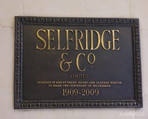 Shopping in London, Selfridge shop, high end