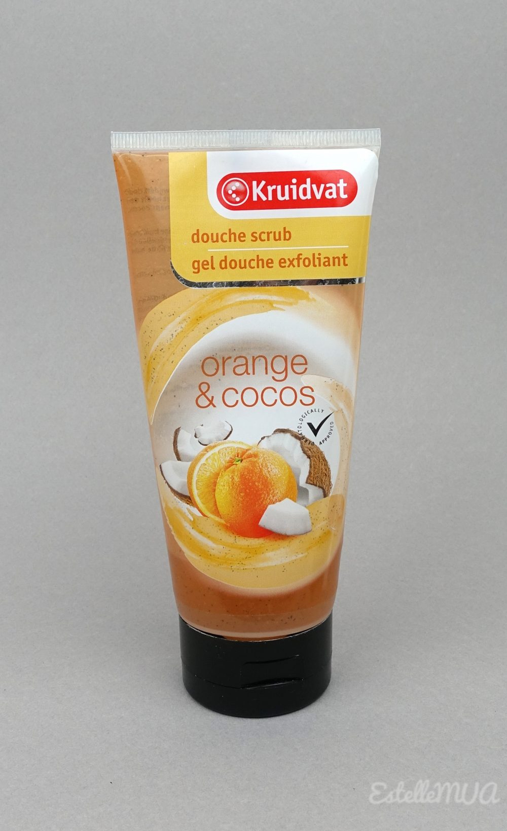 Gel douche exfoliant de Kruidvat, Orange Coco