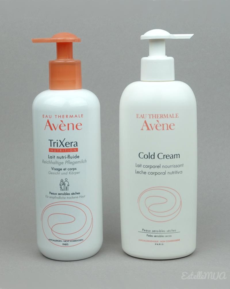 Avene lait coporel Cold Cream et TriXera, quelles différences ?